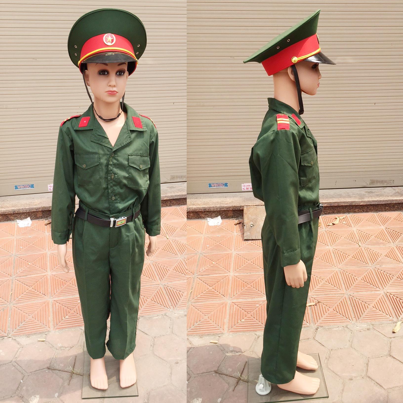 Hình ảnh Bộ đồ chú bộ đội dành cho bé