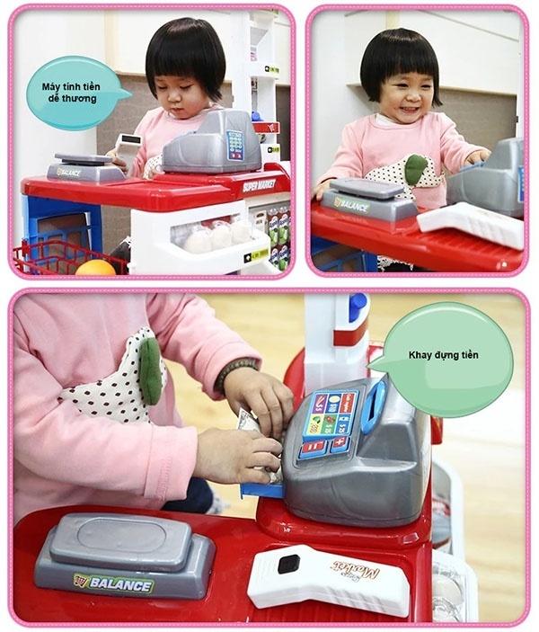Bộ thu ngân xe đẩy siêu thị 10