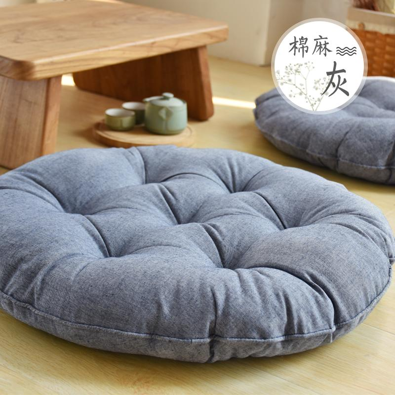 Japanese Style Cotton Linen Literature And Art Hipster Futon Sofa Back throw pillow Tatami Bay Window Hip throw pillow Meditation