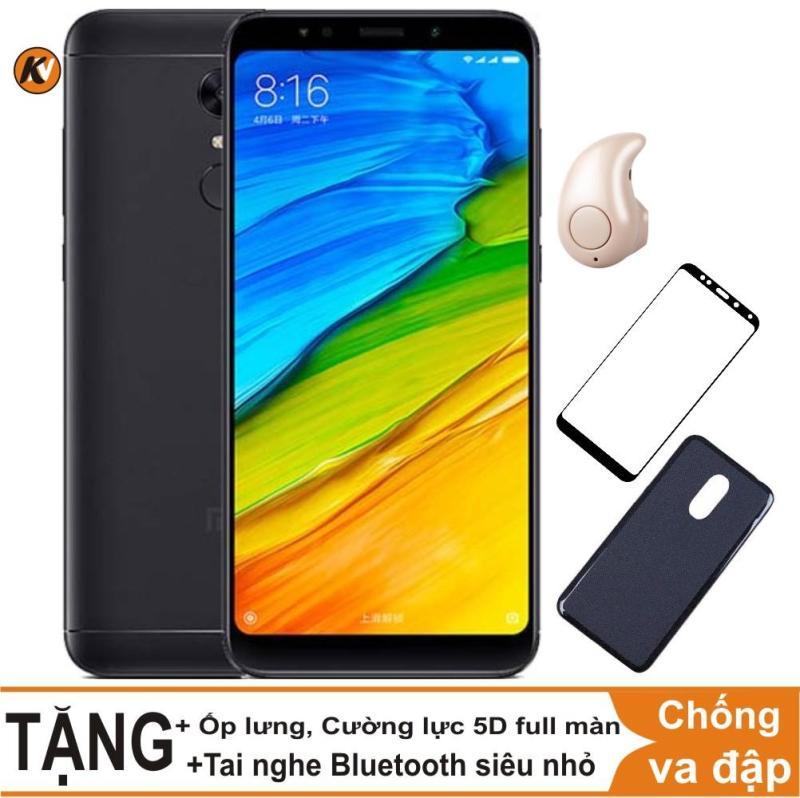 Xiaomi Redmi 5 Plus 32GB Ram 3GB Khang Nhung (Đen) + Ốp lưng + Cường lực 5D full màn (Đen) + Tai nghe Bluetooth siêu nhỏ