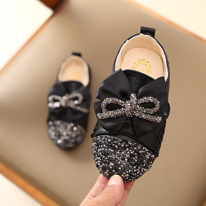 Anak-Anak Sepatu Kulit Kecil 2019 Musim Semi Model Baru Sepatu Bayi Gaya Korea Anak Prempuan Paillette Sepatu Kacang Polong Anak Balita Dan Diatas Balita Putri Sepatu Pasang By Koleksi Taobao.