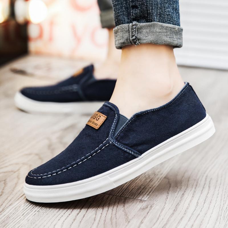 Beijing oldish sepatu kain Anak Muda Pria netral mudah dipakai Sepatu malas  musim panas Sepatu bernapas 5dc1313370