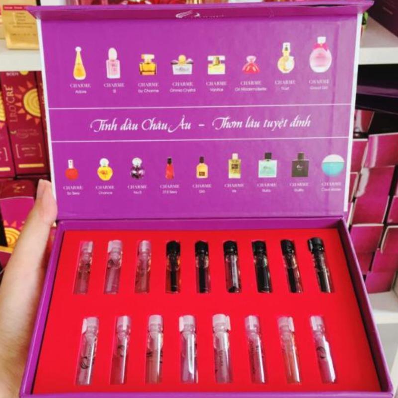 Bộ sưu tập 17 mùi nước hoa Charme - Kích cở du lịch - nhập khẩu