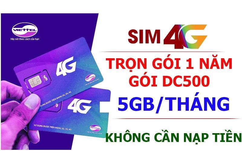 Sim 4G Viettel Trọn Goi 1 Năm 5Gb Thang Goi Cước Dc500 Chiết Khấu Việt Nam