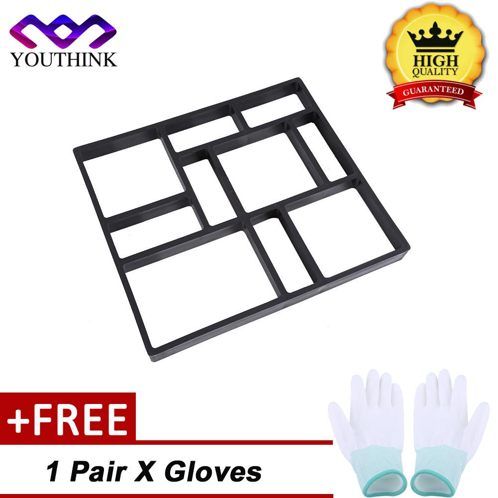 [Buy 1 Get 1 Free Pair Gloves] DIY Nhựa Bê Tông Xi Măng Khuôn Lát