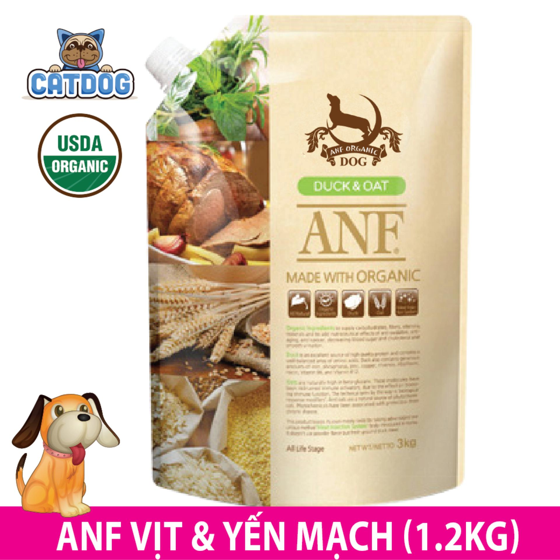 Mua Hạt Anf Made With Organic Vị Vịt Va Yến Mạch 1 2Kg Cho