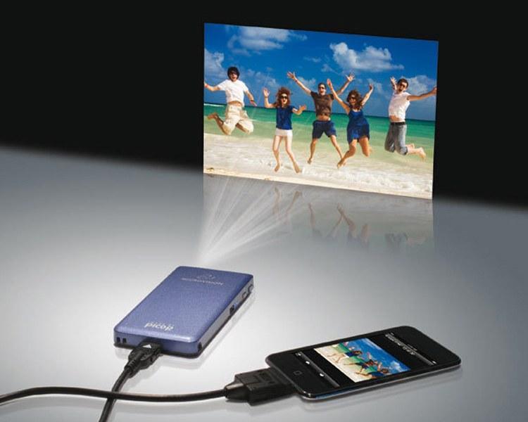 Hình ảnh Máy chiếu (Projector) mini bỏ túi (Độ nét cao) tiện giải trí hoặc làm việc (Hàng VIP của Agiadep)