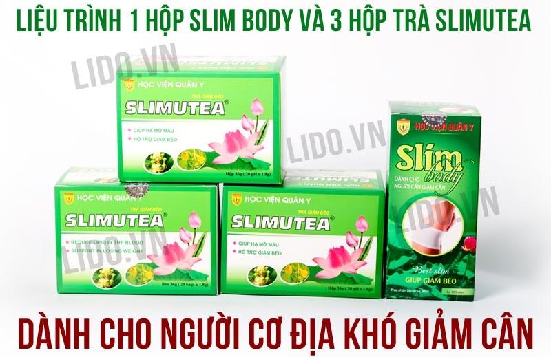 Liệu trình giảm cân từ Slim Body và trà sen Slimutea Học Viện Quân Y