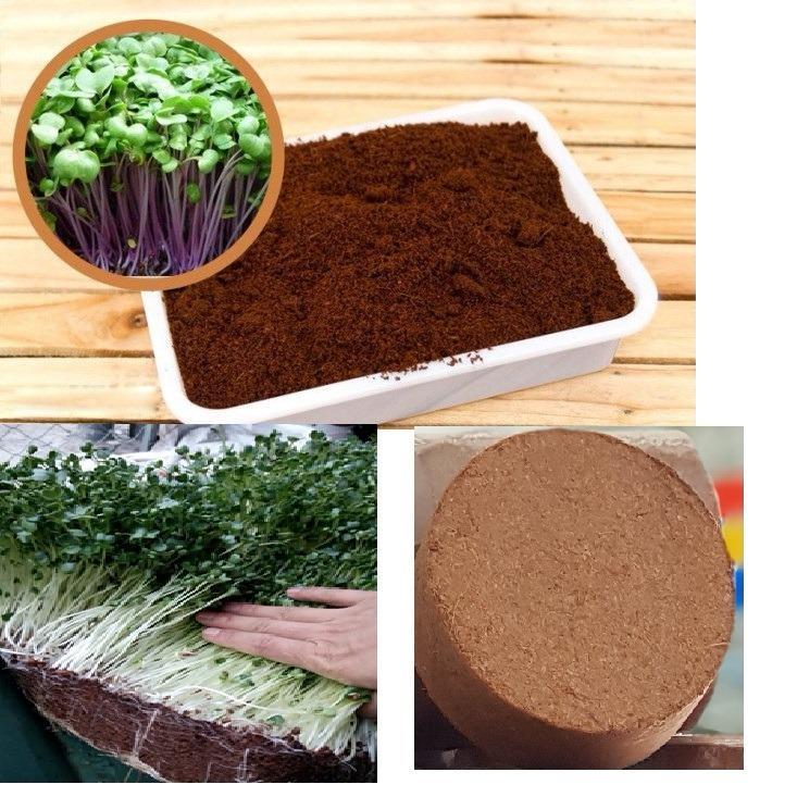 Hình ảnh Đất sạch mùn dừa trồng rau dạng viên nén 1kg ( 2 viên)