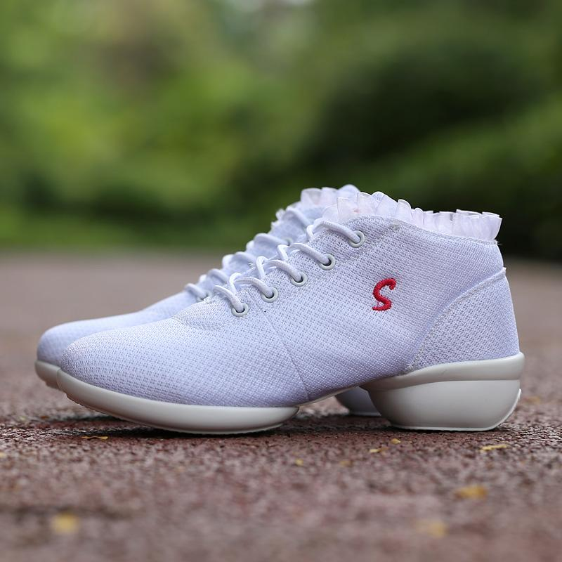 ZOQI Tari Sepatu untuk Gadis Olahraga Lembut Nafas Wanita Latihan Sepatu Modern Jazz .