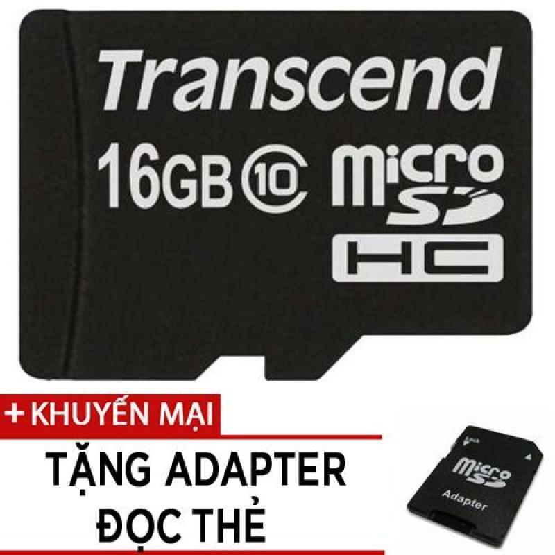 Thẻ nhớ MicroSDHC Transcend Premium 200x 16GB class 10 tặng adapter đọc thẻ