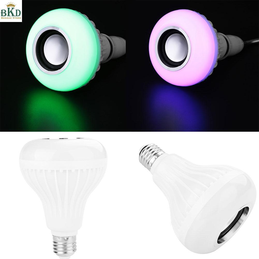 Hình ảnh APP E27 Remote Control Lamp Bulb LED Speaker Bluetooth 3.0 Music LED RGB Light