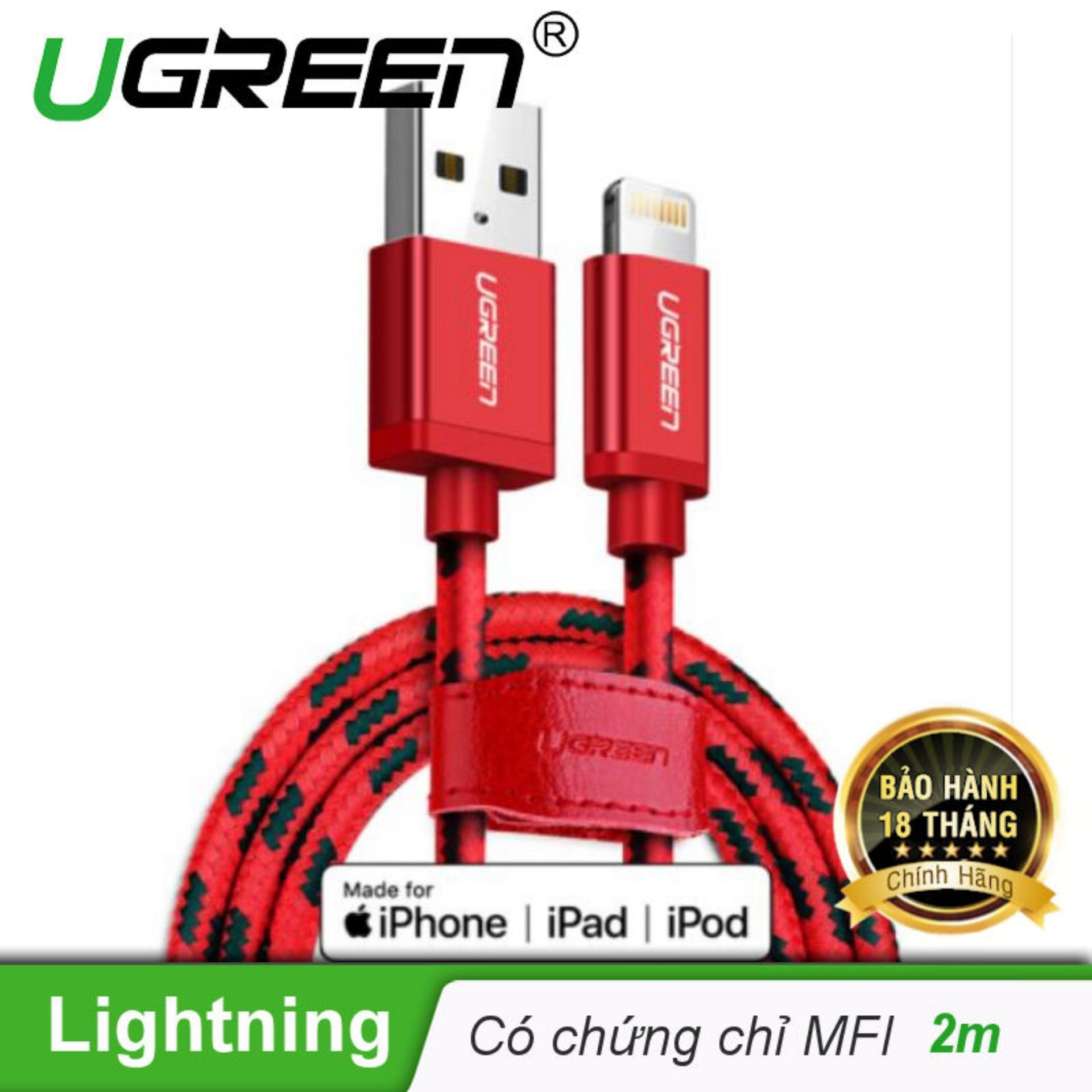 Ôn Tập Trên Day Usb 2 Sang Usb Lighting Vỏ Bọc Lưới Chuẩn Mfi Apple Dai 2M Ugreen Us247 40481 Hang Phan Phối Chinh Thức