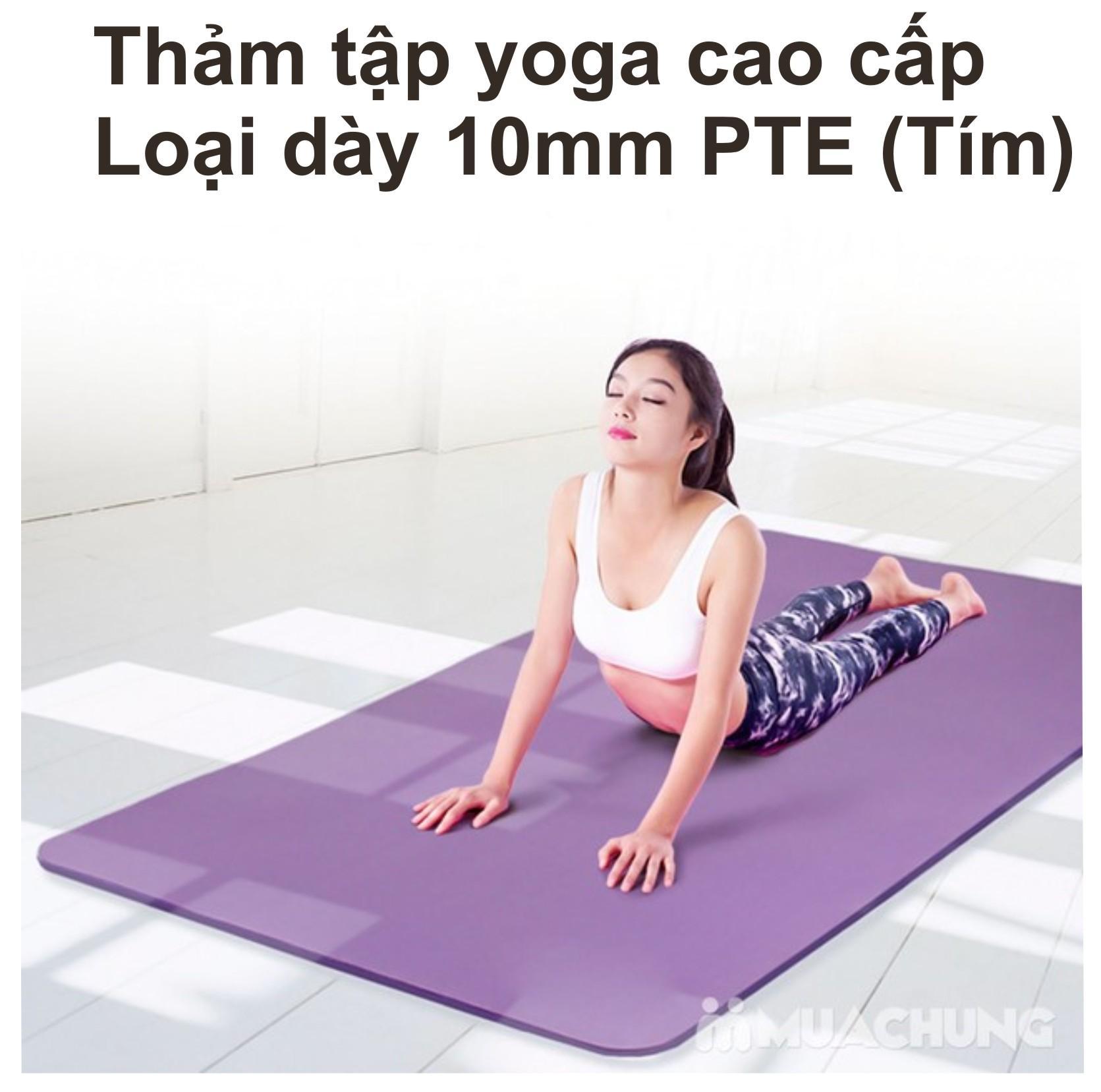 Hình ảnh Thảm Tập Yoga Loại ( 10 mm ) Cao Cấp Sản Xuất 2018 Loại 1 +( TẶNG KÈM TÚI ĐỰNG )