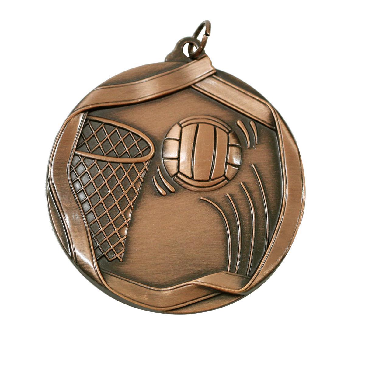 Hình ảnh Huy chương bóng rổ MS621AG 6cm (Gold)
