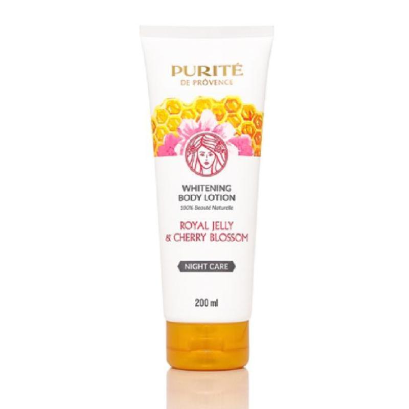 Sữa dưỡng thể ong chúa và hoa anh đào Purite de Provence Royal Jelly 200ml nhập khẩu