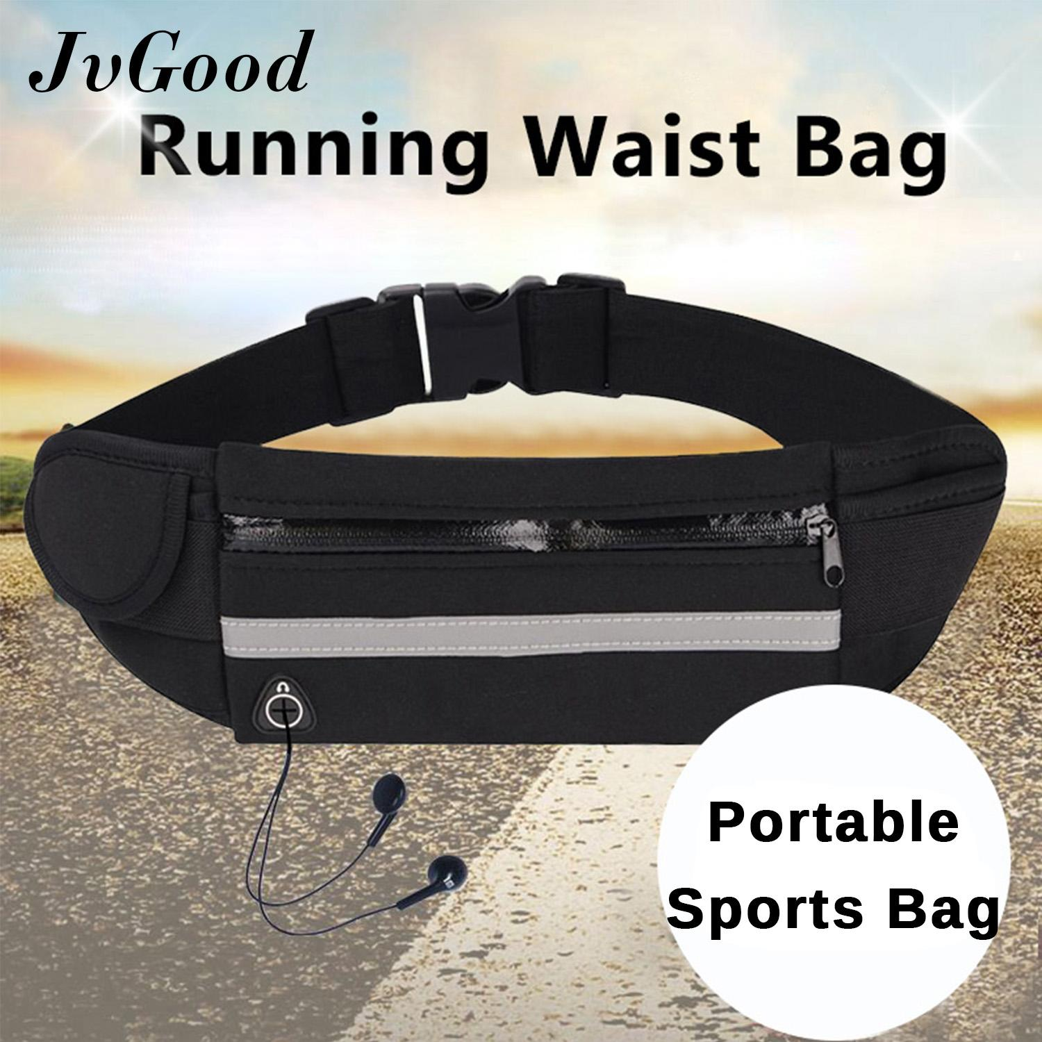 8bebf6f7983e JvGood Running Belt Waist Pack Water Resistant Runners Belt Fanny Pack for  Hiking Fitness Adjustable Running Pouch All Kinds of Phones Windows