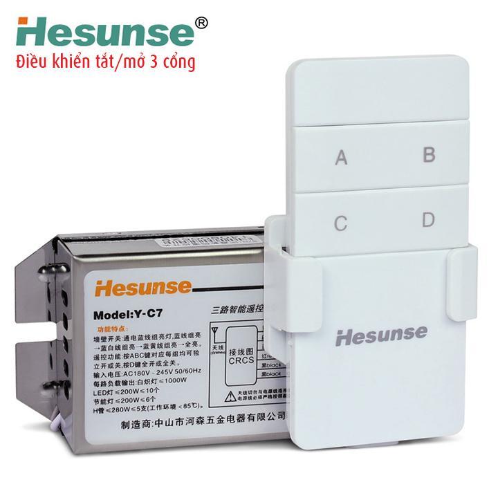 Bộ role điều khiển từ xa Hesunse, tắt mở nhiều thiết bị điện gia đình