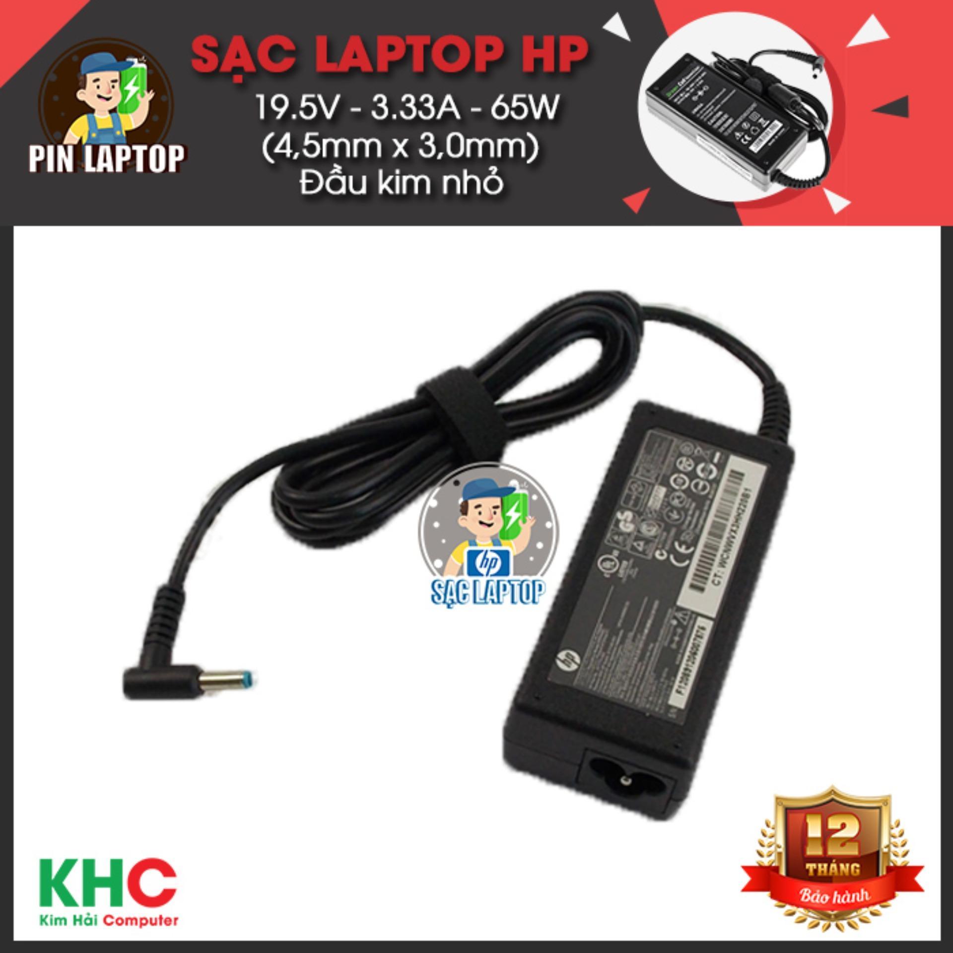Giá Bán Sạc Laptop Hp 19 5V 3 33A 65W 4 5Mm X 3 0Mm Đầu Kim Nhỏ Eom Hồ Chí Minh