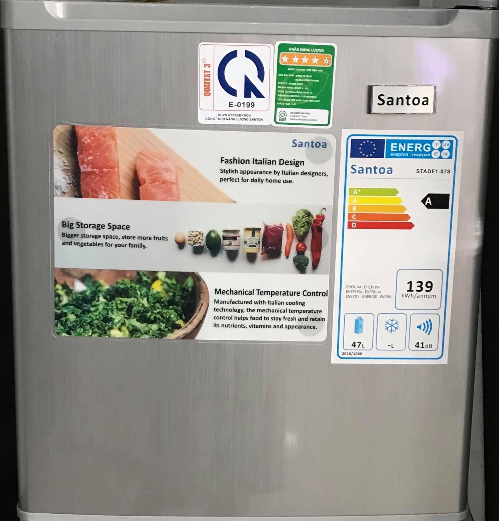 Hình ảnh Tủ Lạnh Mini Santoa - Model STADF1 - 07 (48L)