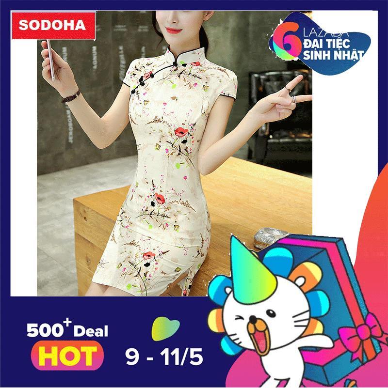 Giá Bán Đầm Nữ Thiết Kế Kiểu Hoa Mẫu Mới Sieu Hot Sodoha D65H68Y Hà Nội