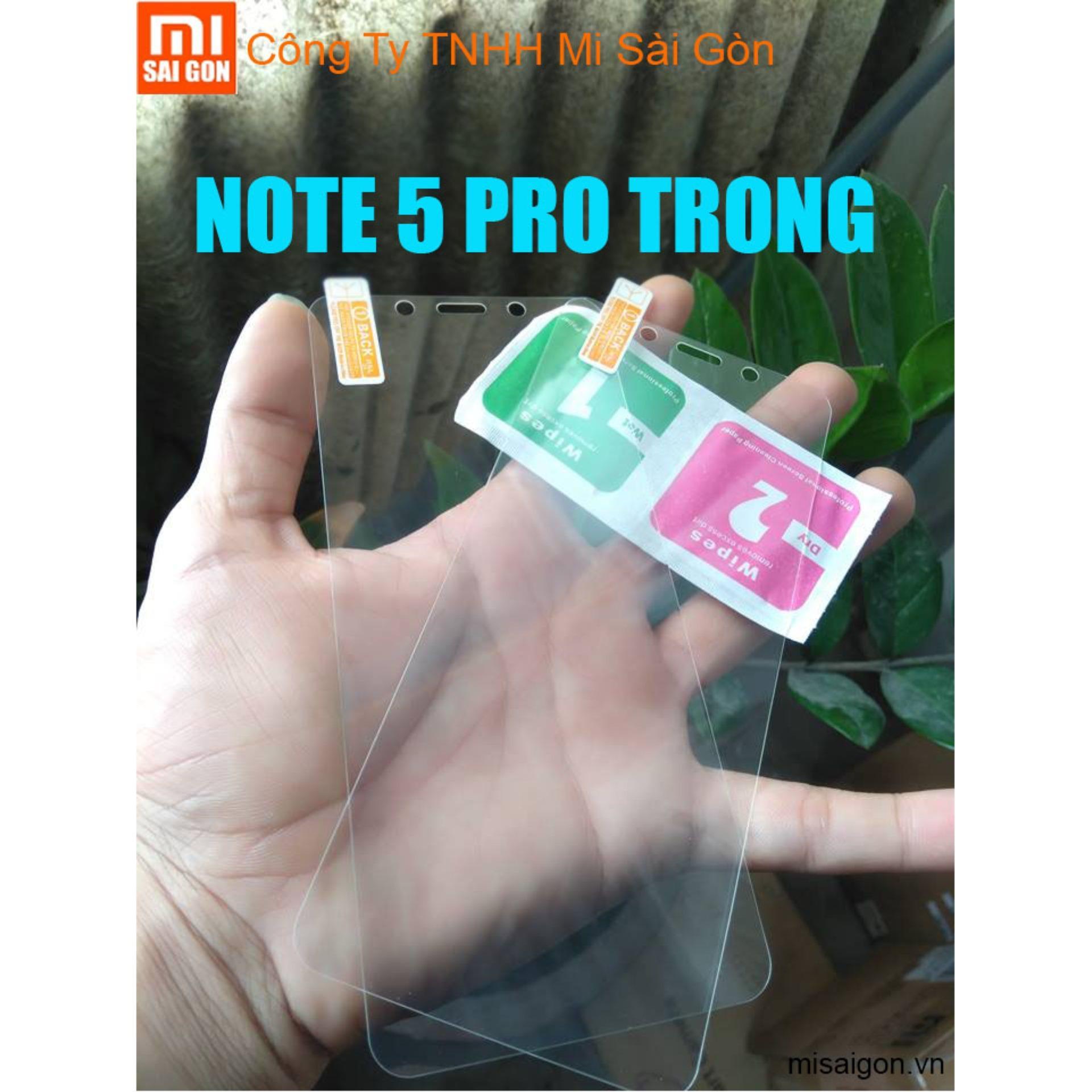 Hình ảnh Kính Cường Lực Redmi Note 5 Pro ( 2 miếng trong suốt cộng keo )