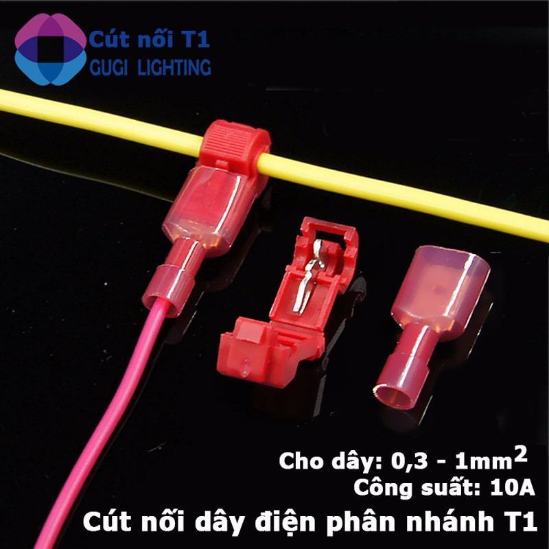 Combo 50 cút nối dây điện phân nhánh chữ T cho dây từ 0.3 - 1mm2 (T1)