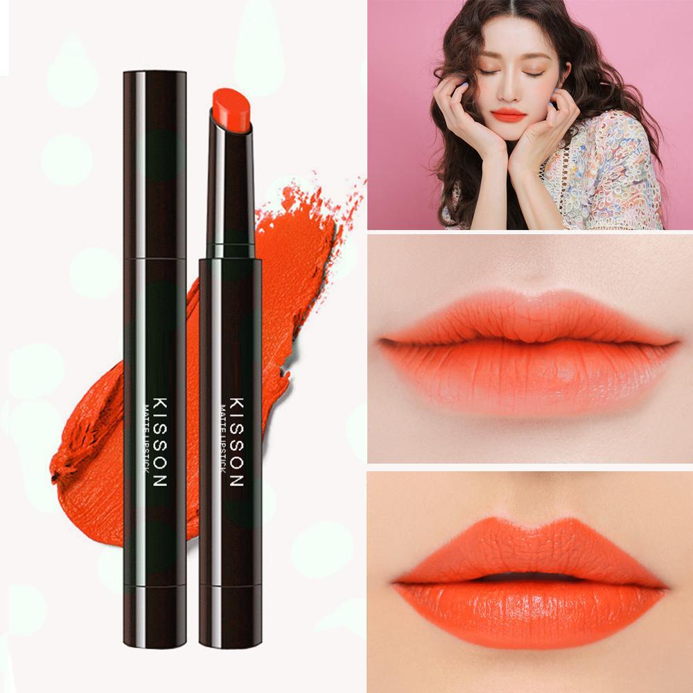 Hình ảnh Son lì KISSON Matte Lipstick mã KN04 ( màu cam tươi)