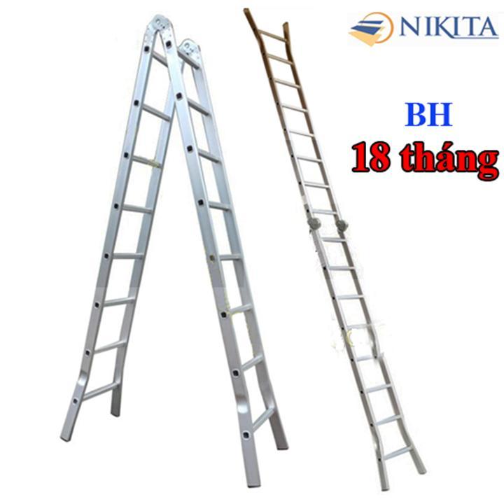 Thang nhôm chữ A Nikita NIK30 Nhật Bản - Chiều cao 6,0m