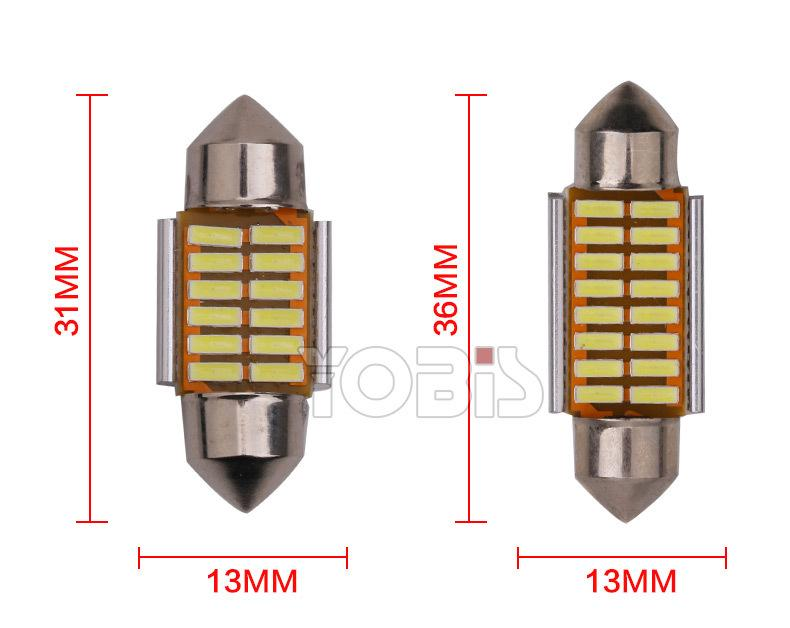 led trần xe 3014 12SMD 31mm