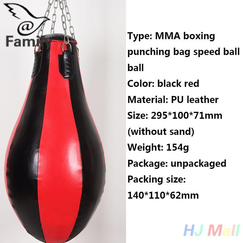 Hình ảnh Big Family:MMA Boxing Puch Leather Speed Bag Punching Sandbag Boxer Training Kickboxing - intl