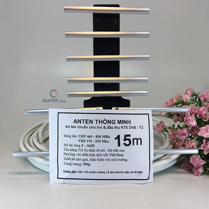 Hình ảnh Anten dùng cho đầu thu kèm 15m dây cáp