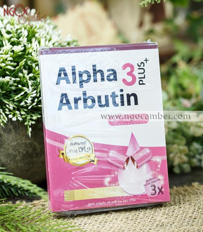 Combo 2 hộp Viên kích trắng alpha arbutin 3 (1 hộp = 1 Vỉ 10 viên) nhập khẩu