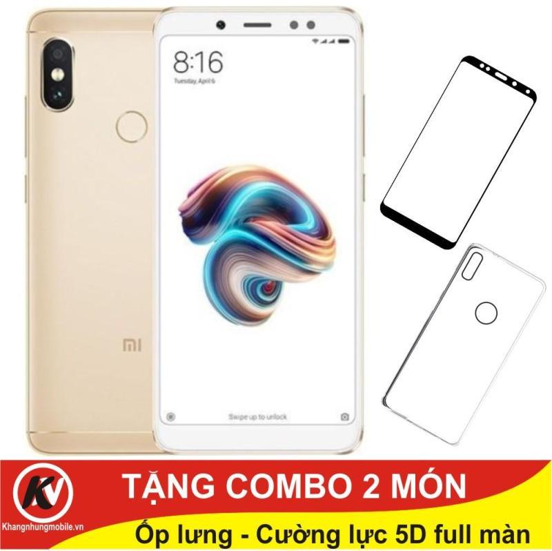 Xiaomi Redmi Note 5 Pro, Note5Pro, Note 5Pro 64GB Ram 4GB Kim Nhung (Vàng) + Ốp lưng + Cường lực 5D full màn (Trắng)