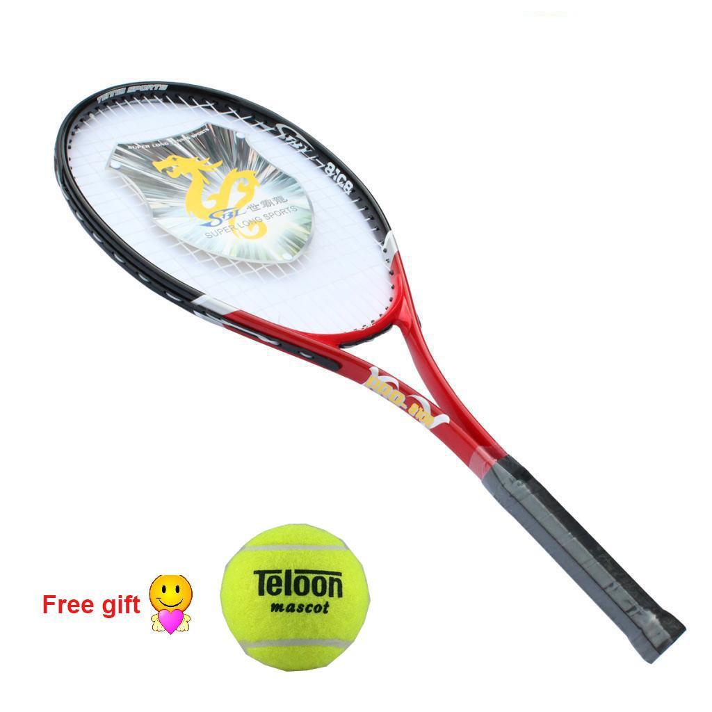 Hình ảnh Carbon Fiber Tennis Racket(red) - intl