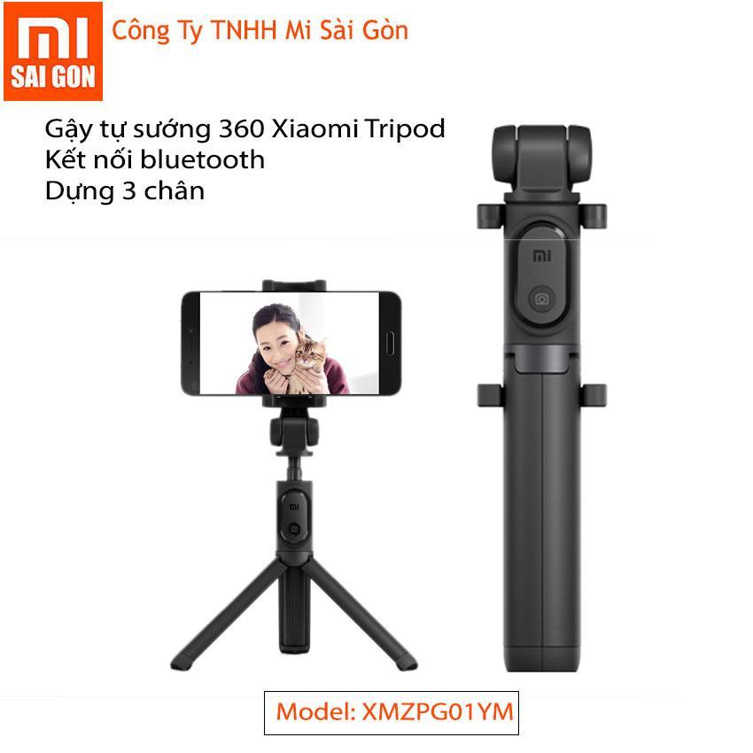 Giá Bán Gậy Tự Sướng Xiaomi Selfie Stick Tripod Bluetooth 3 Chan 1 Cai Đen Nguyên Xiaomi