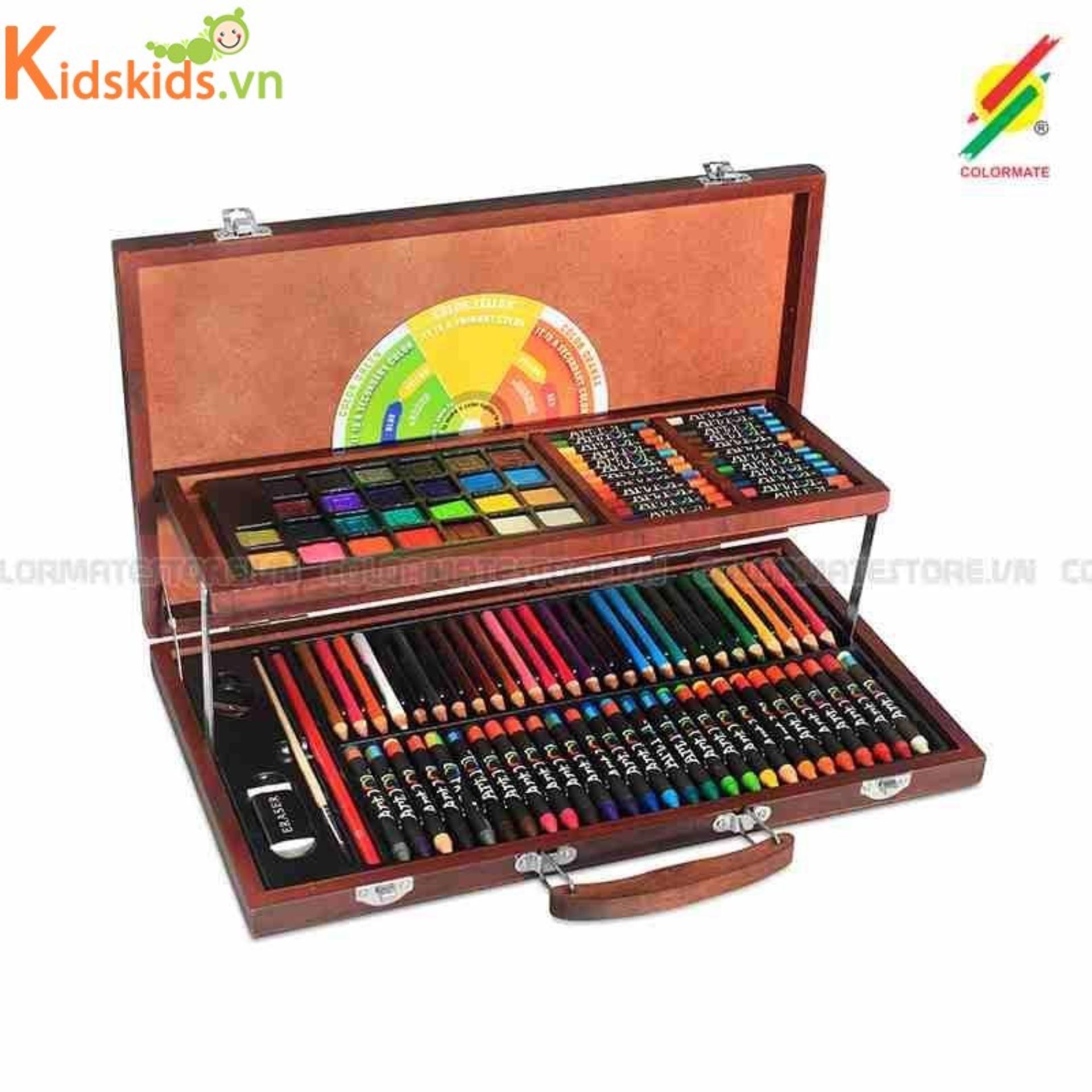 Hình ảnh Bút màu hộp gỗ M 111 Colormate