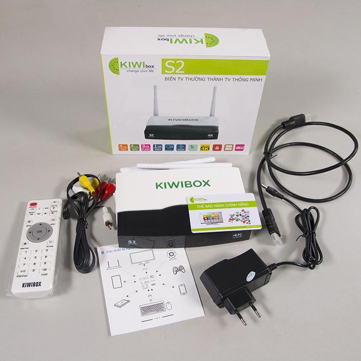 Hình ảnh Tivi box Kiwibox S2 (Đen Phối trắng)