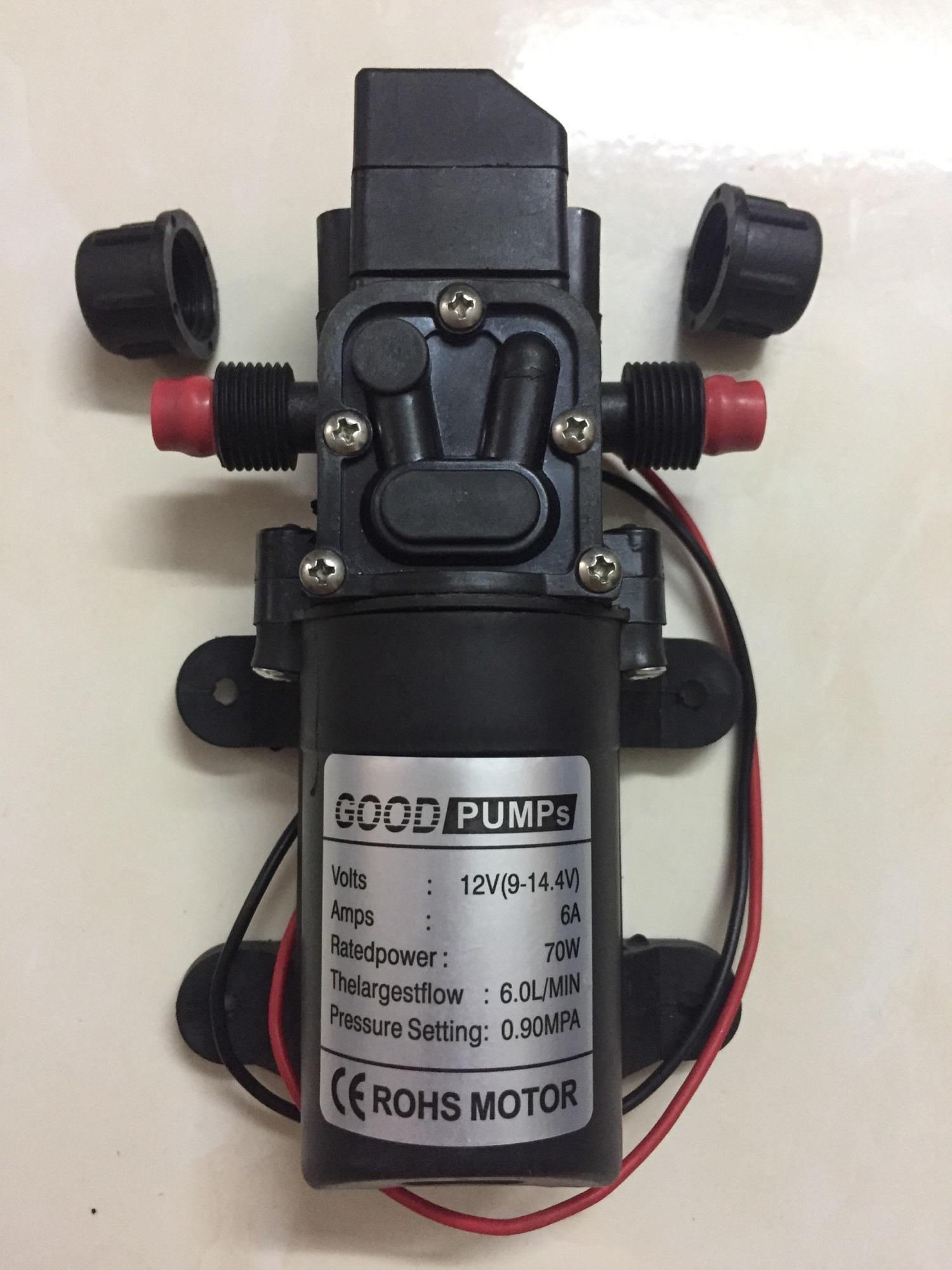 Hình ảnh Máy bơm mini tăng áp lực nước loại 12V - 70W lưu lượng 6L/phút