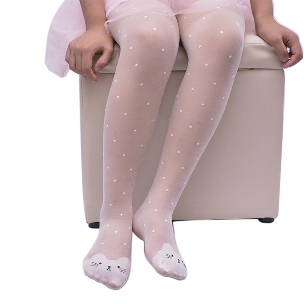 Lucu Anak Gadis Sangat Elastik Dapat Bernafas Pantyhose Menari Bottoming Kaus Kaki Anti-Hook Legging Tipis Kaus Kaki By Chesy.