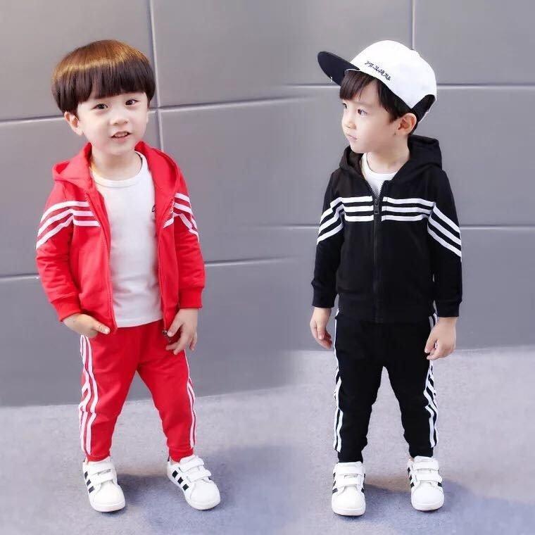 Hình ảnh Combo 02 Bộ quần áo thu đông dễ thương cho bé gái, bé trai từ 1-7 tuổi.