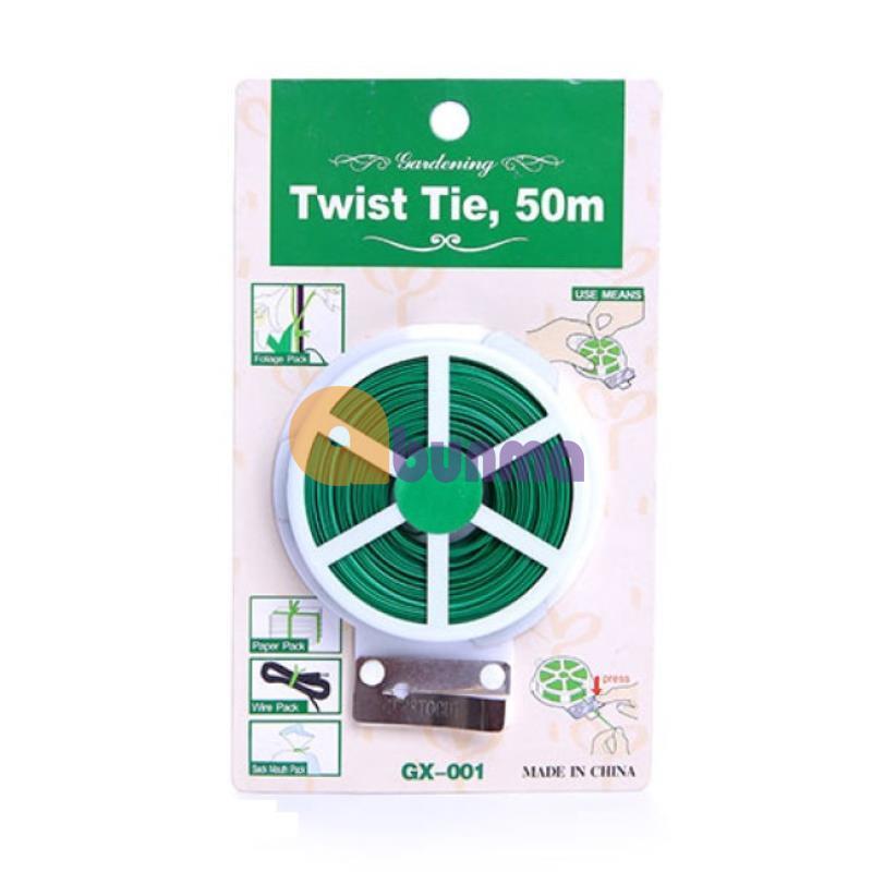 Hình ảnh Cuộn dây buộc đồ đa năng Twist Tie GX-001, 50m (Dây nhựa, lõi kẽm)