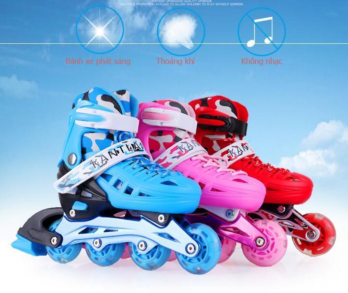 Đặt hàng mua giay truot patin , Giày patin tốt -Đặt mua ngay giày trượt Patin 4 bánh phát sáng, cực ký chắc chắn cho trẻ tăng cường vận động - Tặng kèm bộ bảo hộ siêu cute - Bh uy tín 1 đổi 1 bởi THE-LIGHT