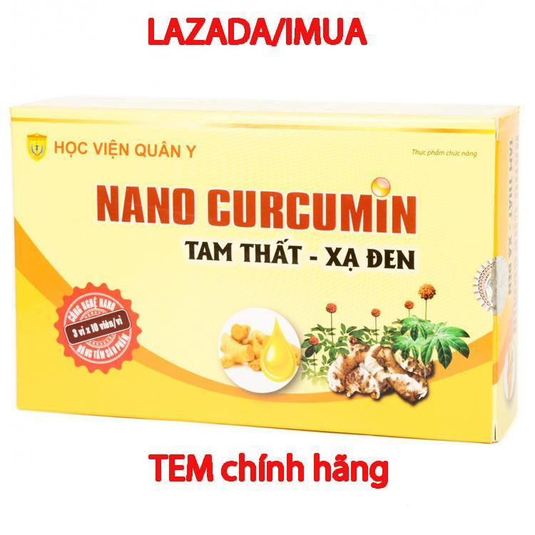 Chiết Khấu Vien Uống Nano Curcumin Tam Thất Xạ Đen Hỗ Trợ Điều Trị Đau Dạ Day Học Viện Quan Y 30 Vien Hồ Chí Minh