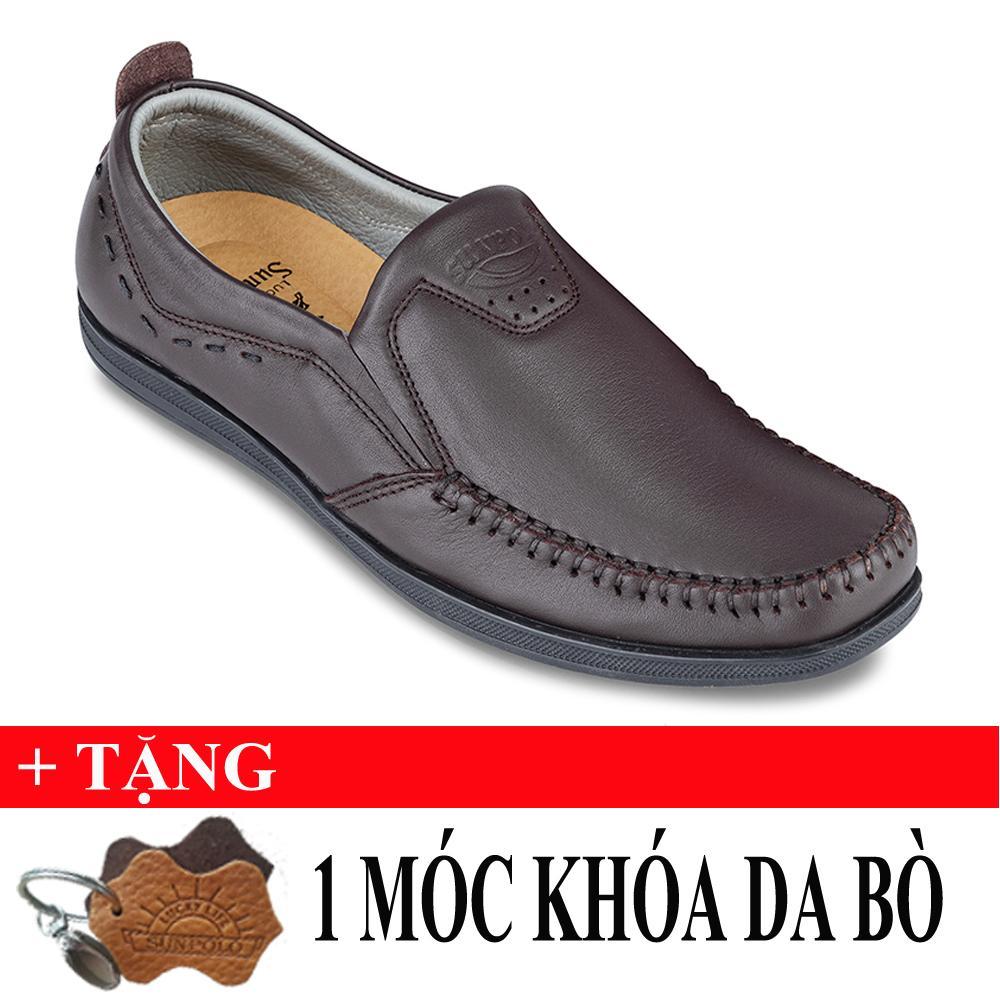 Giá Bán Giay Mọi Nam Da Bo Sunpolo Ls3026N Nau Tặng Moc Khoa Da Bo Nguyên