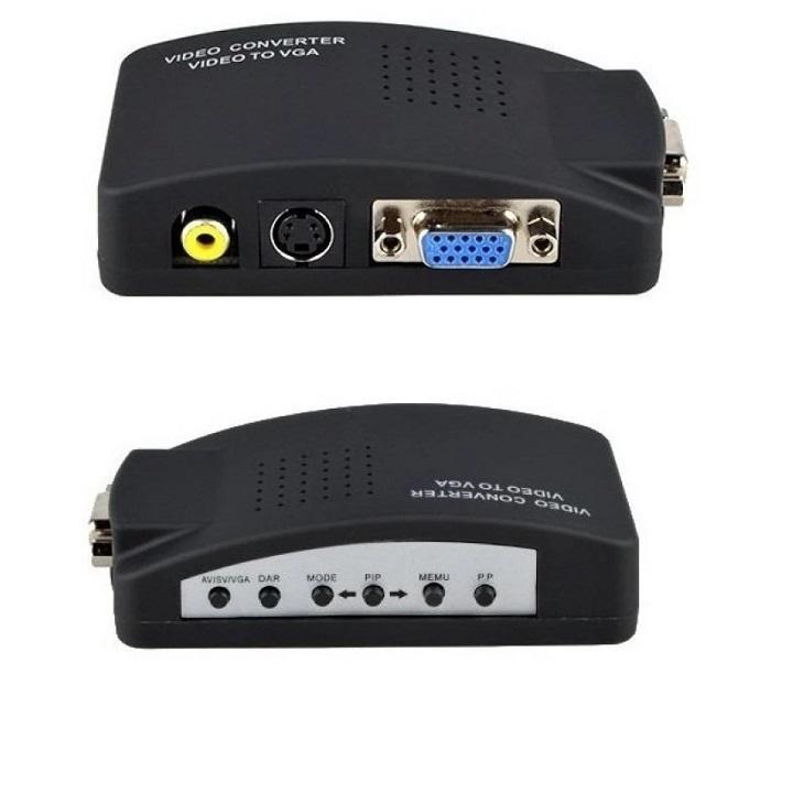 Hình ảnh Bộ chuyển đổi tín hiệu AV sang VGA (Đen)