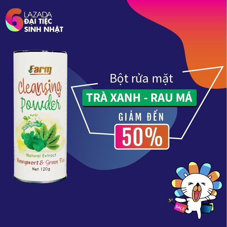 Bột Rửa Mặt Tra Xanh Rau Ma Nguyen Chất 100 Beautyfarm Chiết Khấu 50