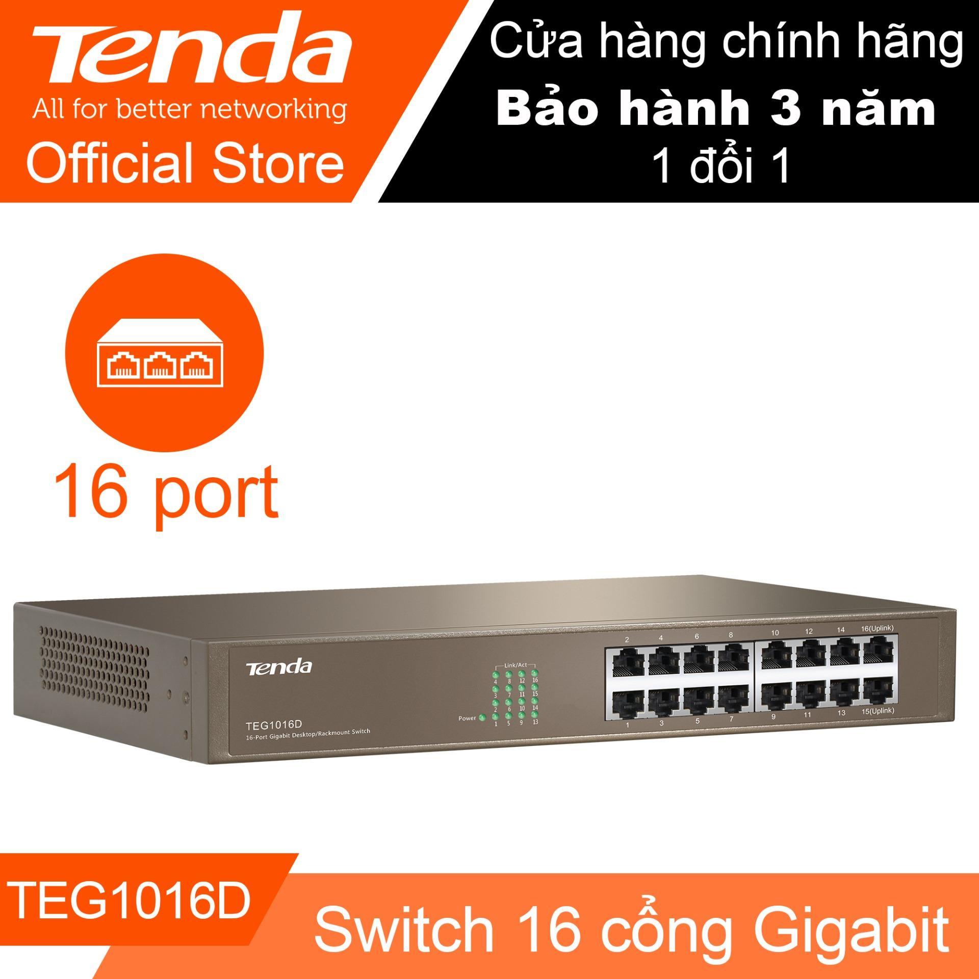 Hình ảnh Thiết bị Switch 16 cổng tốc độ Gigabit TENDA TEG1016D - Hãng Phân phối chính thức
