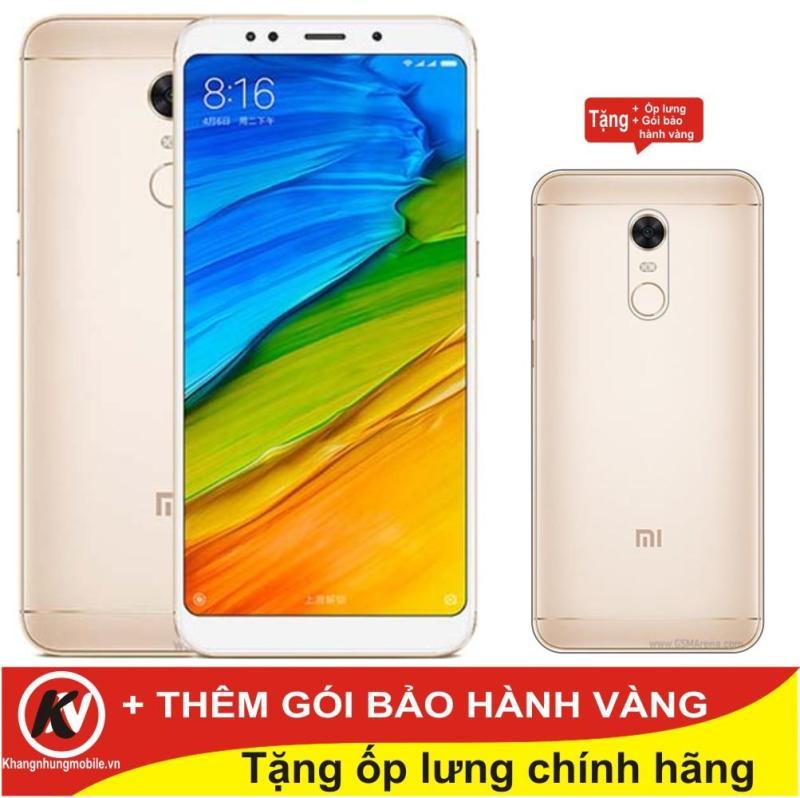 Xiaomi Redmi 5 16GB Ram 2GB Kim Nhung (Vàng) - Hàng nhập khẩu + Ốp lưng silicon + Gói bảo hành vàng