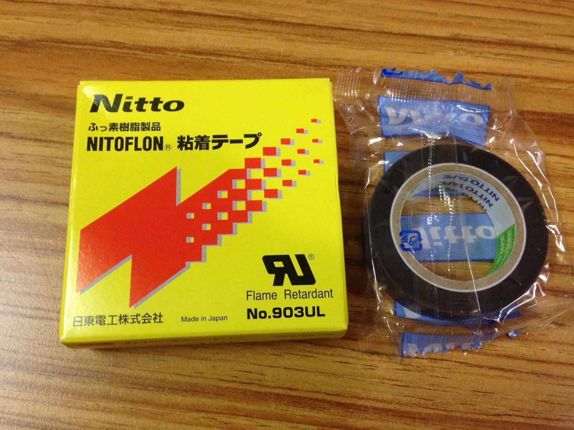 Băng keo chịu nhiệt Nitoflon 0.08*19mm*10m